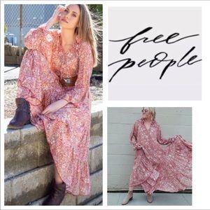 Free People Feeling Groovy Printed Maxi Dress. NWT